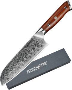 Damaszener-Messer_SCHNEIDWERK_Santoku-Messer_Damastmesser_Kochmesser